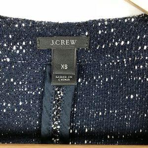 J. Crew Jackets & Coats - J. Crew navy blue zip up blazer cardigan